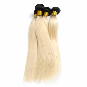 Straight Blonde w/1B Roots (Bundle Deal)