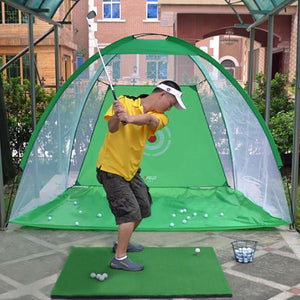 2M/1M/3M Golf Cage Oxford Cloth Detachable Swing Hitting Practice Net Trainer Indoor Outdoor Training Aids + spong ball