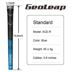 Geoleap Golf Grips 10pcs/lot, Back Rib,Multi Compound  Hybrid Golf Club Grips, Standard/Mdisize, 5 Color. Fress Shipping