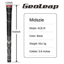 Load image into Gallery viewer, Geoleap Golf Grips 10pcs/lot, Back Rib,Multi Compound  Hybrid Golf Club Grips, Standard/Mdisize, 5 Color. Fress Shipping