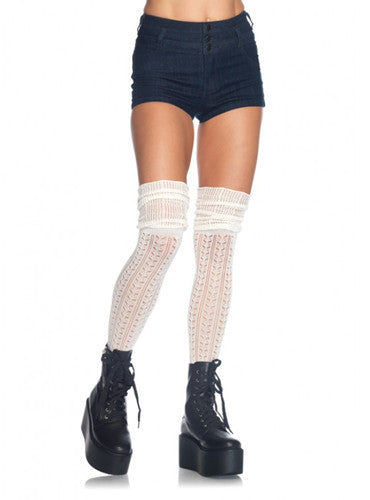 Acrylic over the knee sock (Ivory)
