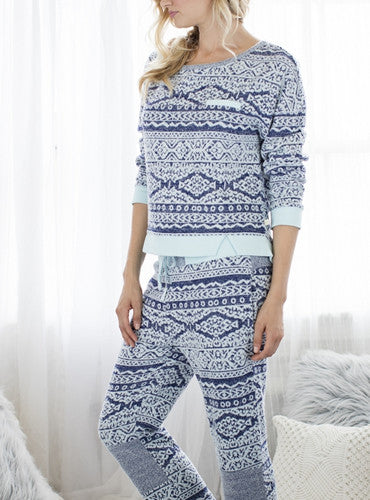 Forget Me Not PJ Set - Snow Mint