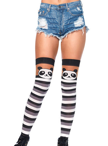 Panda Party Thigh High Stockings