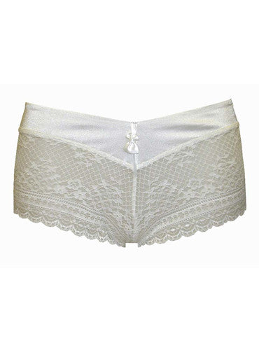 Silky Lacy Shorty (White)