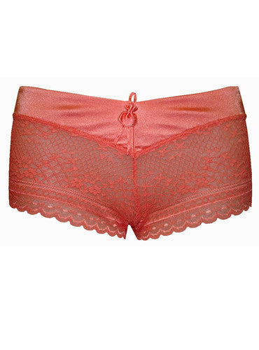 Silky Lacy Shorty (Tangerine)