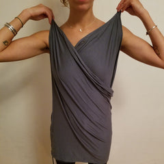 Convertible Shirt Tutorial - The Halter Top - Step 2