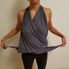Convertible Shirt Tutorial - The Halter Top - Step 3