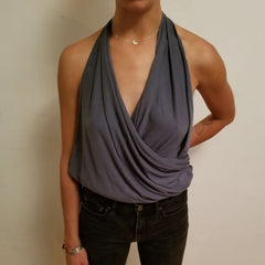 Convertible Shirt Tutorial - The Halter Top - Final Look