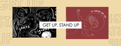 Get Up Stand Up Banner - Supporting Women's Rights