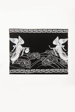 Load image into Gallery viewer, Angeles Print by Deux Goods - white ink on black fabric