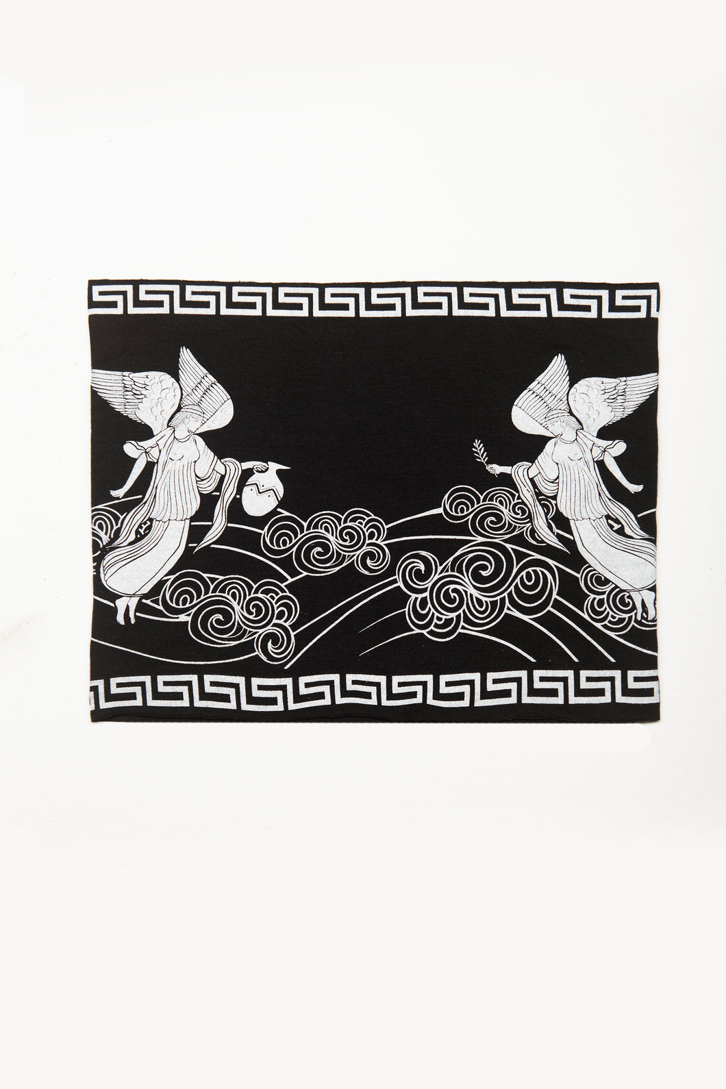 Angeles Print by Deux Goods - white ink on black fabric
