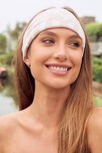 Combo - Light Gray Tube Top with Double Layer Fishes White Multi Use Headband/Mask