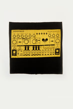 Load image into Gallery viewer, Deadmau5 Synth Print Multi Use Headband/Face Mask in Black