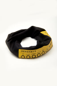 Deadmau5 Synth Print Multi Use Headband/Face Mask in Black