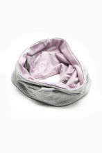 Load image into Gallery viewer, Double Layer Multi Use Headband/Face Mask in Light Gray & Lavender