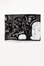 Load image into Gallery viewer, Double Layer Multi Use Headband/Face Mask - Print & Reversible - Equality in Pitch Black & White