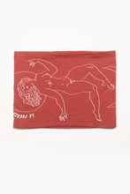 Load image into Gallery viewer, Double Layer Multi Use Headband/Face Mask - Print & Reversible - Fuerza Del Sol Brick Red Mono