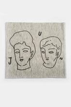 Load image into Gallery viewer, Juntos Print Multi Use Headband/Face Mask in Light Gray Side 1