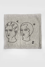 Load image into Gallery viewer, Juntos Print Multi Use Headband/Face Mask in Light Gray Side 2
