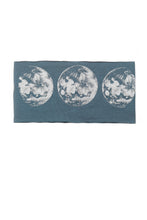 Load image into Gallery viewer, Kids Moon Phase Print Multi Use Headband/Mask in Titanium Blue