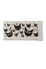 Load image into Gallery viewer, Kids Gatos Print Multi Use Headband/Mask by Deux Goods in Light Gray
