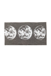 Kids Moon Phase Print Multi Use Headband/Mask in Stone Gray