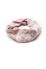 Load image into Gallery viewer, Kids Moon Phase Print Multi Use Headband/Mask in Dusty Lavender - rolled up