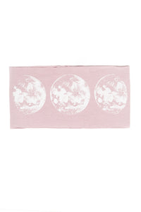 Kids Moon Phase Print Multi Use Headband/Mask in Dusty Lavender