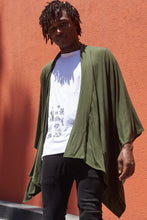 Load image into Gallery viewer, Kimono Jacket in Olive Green