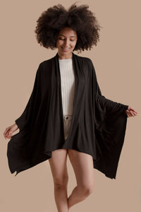 Kimono Jacket in Pitch Black