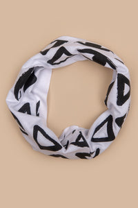 Vision Print Multi Use Headband/Face Mask in White