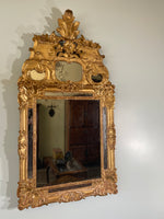 Louis XV of the Period Gold Gilt Frame with Original Mirror