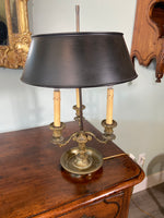 19th Century French Bronze Bouillotte Lamp (rewired)