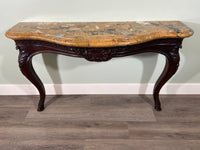 Early 19th Century Oak Console with Lovely Marble Top