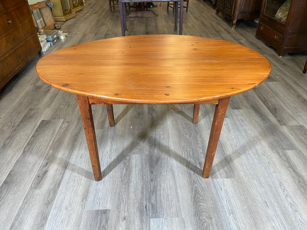 19th Century French Pine Oval Table