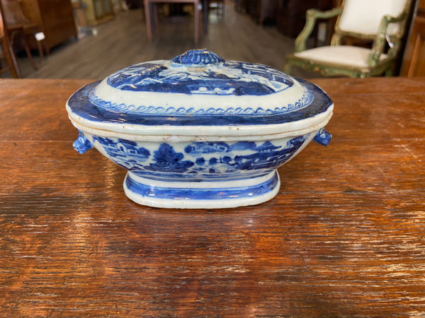 Antique Canton Covered Tureen