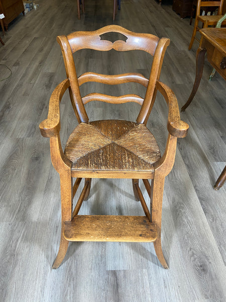 19th Century French Fruitwood High Chair