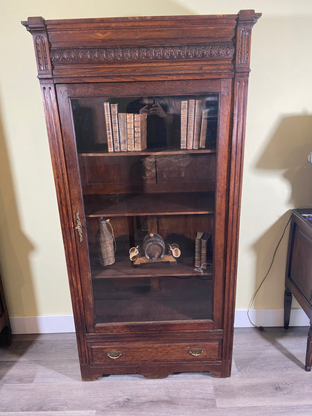 1920's French Oak Display Cabinet