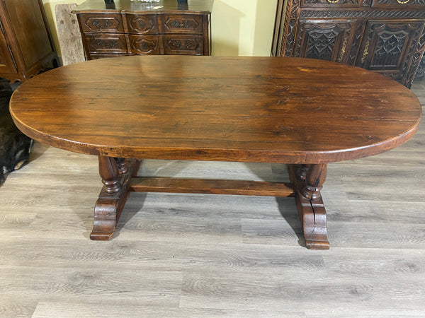 Turn of 18th Century French Oval Monastery Table