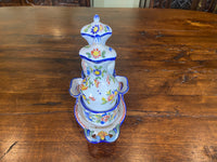 19th C. French Faience Oil and Vinegar Holder