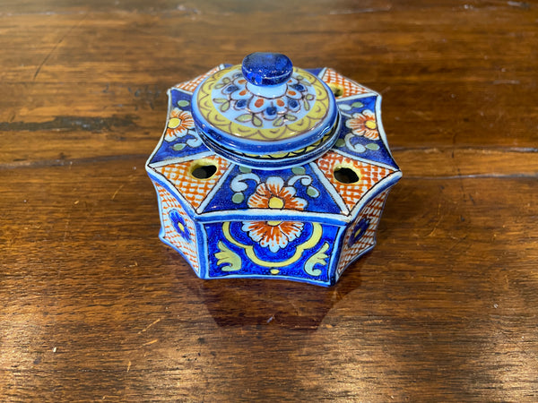 19th C. French  Faience Inkwell
