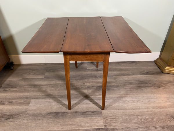 19th C. French Cherry Drop Leaf Table
