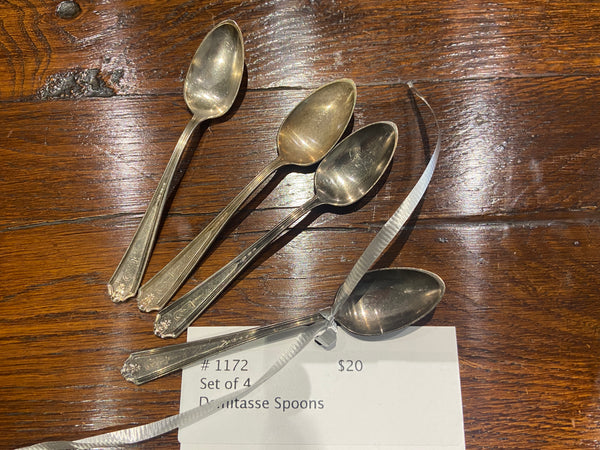 Set of 4 Demitasse Spoons