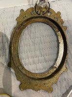 Antique Oval French Brass Frame