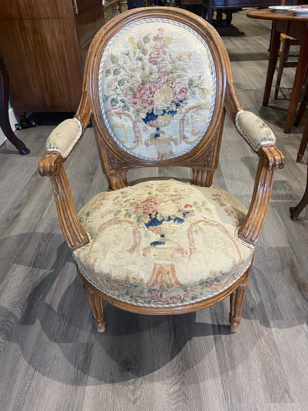 Period Louis XVI Child Chair with 18th C. Tapestry