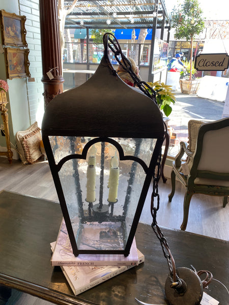 Laura Lee Lantern with seeded glass