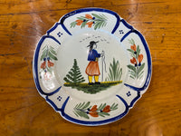 Late 19th C HB Quimper Plate