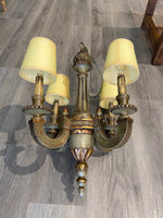 19th C. French Painted Wood Chandelier