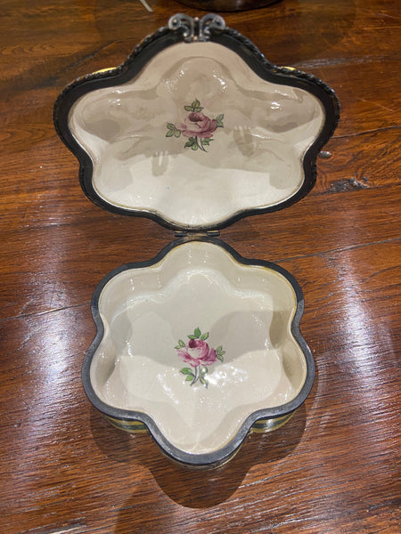 Early 20th C. French Porcelain Dresser Box