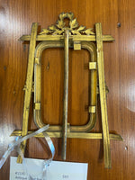 Antique Solid Brass Picture Frame On A Stand